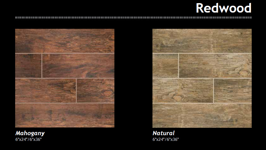 wood looks - Redwood