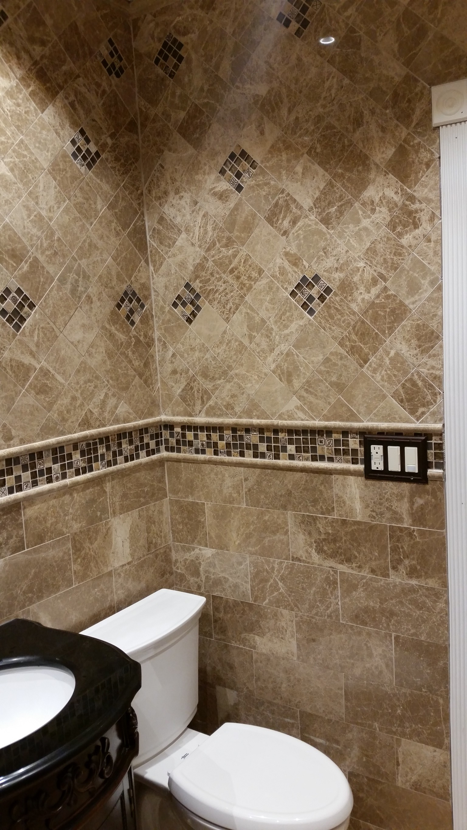 Cool Ceramic Tile Bathroom Shower Design Ideas  Home Art Tile In QueensNY