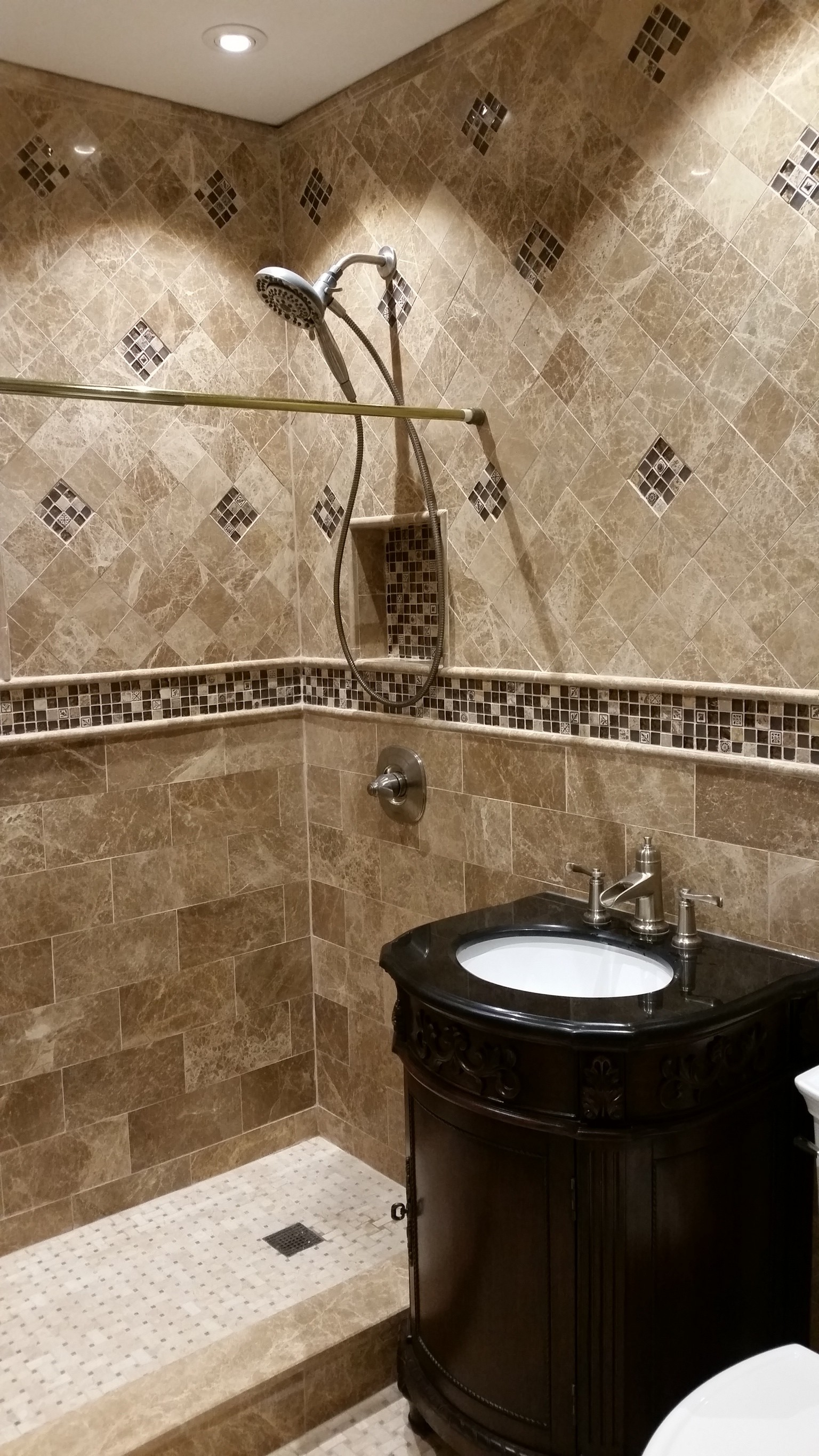 Brilliant Marvelous Manhattan Bathroom Remodeling  Home Art Tile In QueensNY