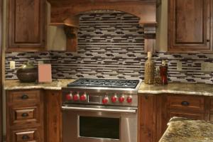 Black Metal Brick Pattern | Home Art Tile Kitchen and Bath