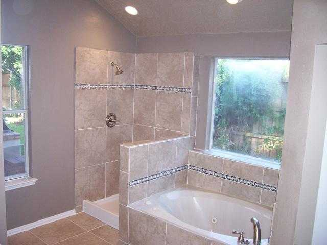 Ceramic tile bathroom shower design ideas home art tile - Open shower bathroom design ideas ...