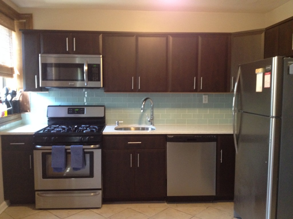 Kitchen Cabinet Countertop And Sinks For An Ultramodern Kitchen Home Art Tile In Queens Ny