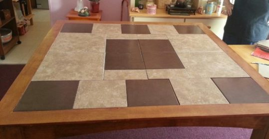 4 beautiful ceramic tile kitchen table designs - Home Art Tile in ...