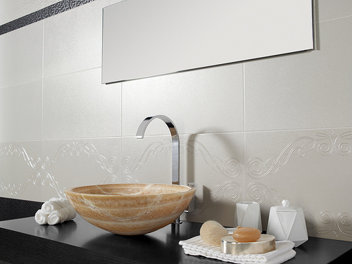 Porcelain Tile and the Traditional Bathroom   Home Art Tile Kitchen and Bath