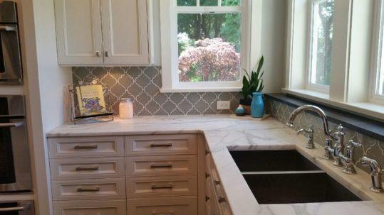 Introducing Dove Gray Arabesque Tile Home Art Tile In