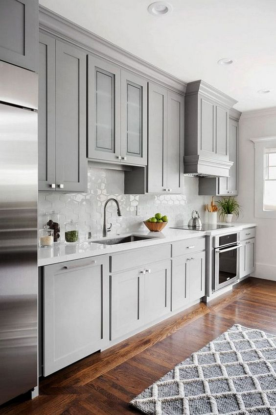 Best kitchen cabinets buying guide 2018 photos for Kitchen ideas light grey