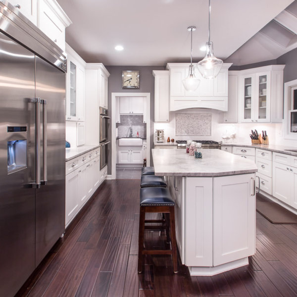 Beau Forevermark Cabinets | Home Art Tile Kitchen And Bath Forevermark Cabinets  Ice White Shaker Kitchen