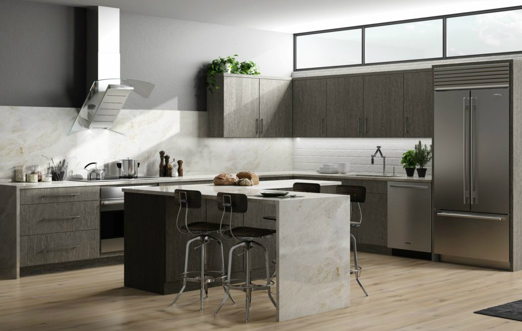 Gray Kitchen Cabinets | Home Art Tile Kitchen and Bath
