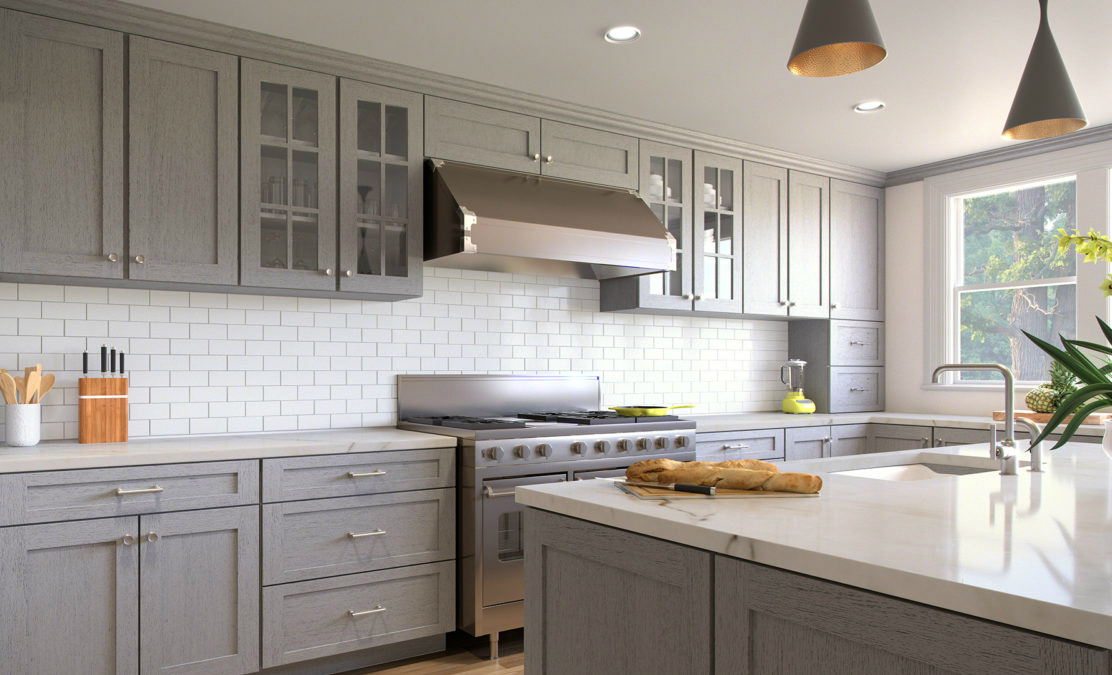 Gray Kitchen Cabinets Home Art Tile And Bath