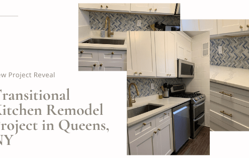 Transitional Kitchen Remodel Project in Queens, NY