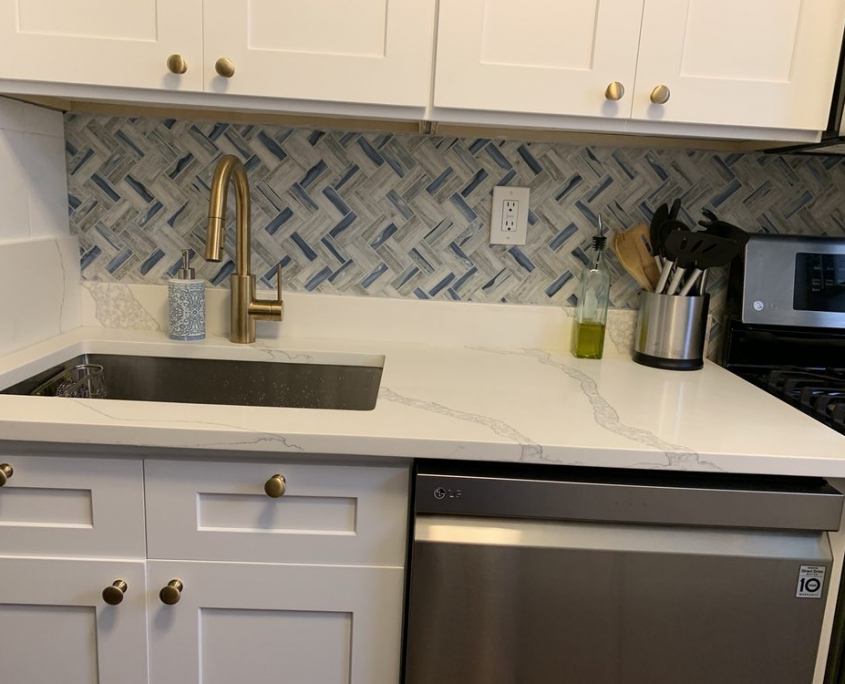 Transitional Kitchen Remodel Project in Queens, NY | Home Art Tile Kitchen and Bath