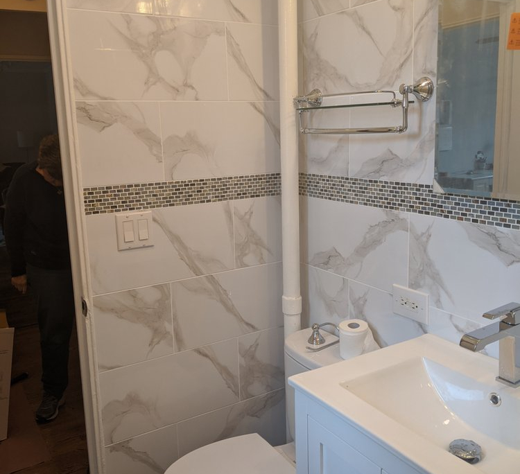 Modern Bathroom Remodel Project in New York, NY | Home Art Tile Kitchen and Bath